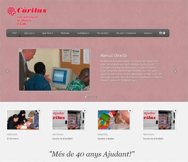 Diseñando la Nueva web de Caritas Mataró